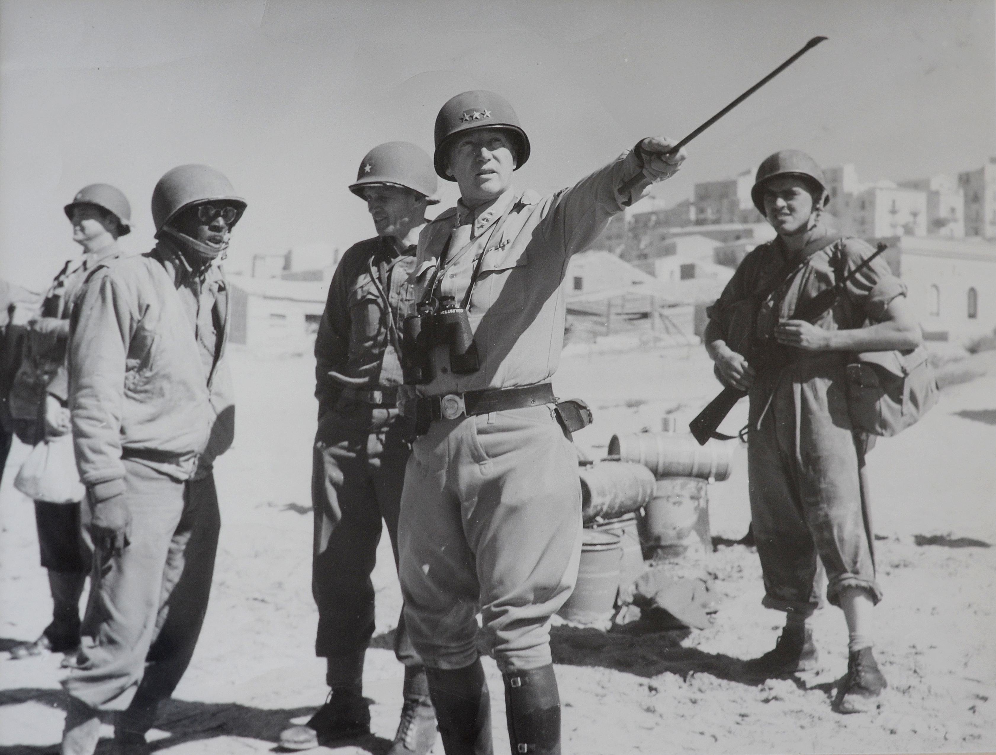 Controversy continues over death of gen george s patton gen george s patton points his riding crop during the military campaign for sicily in 1943 behind him to the left is his chief of staff gen sciox Image collections