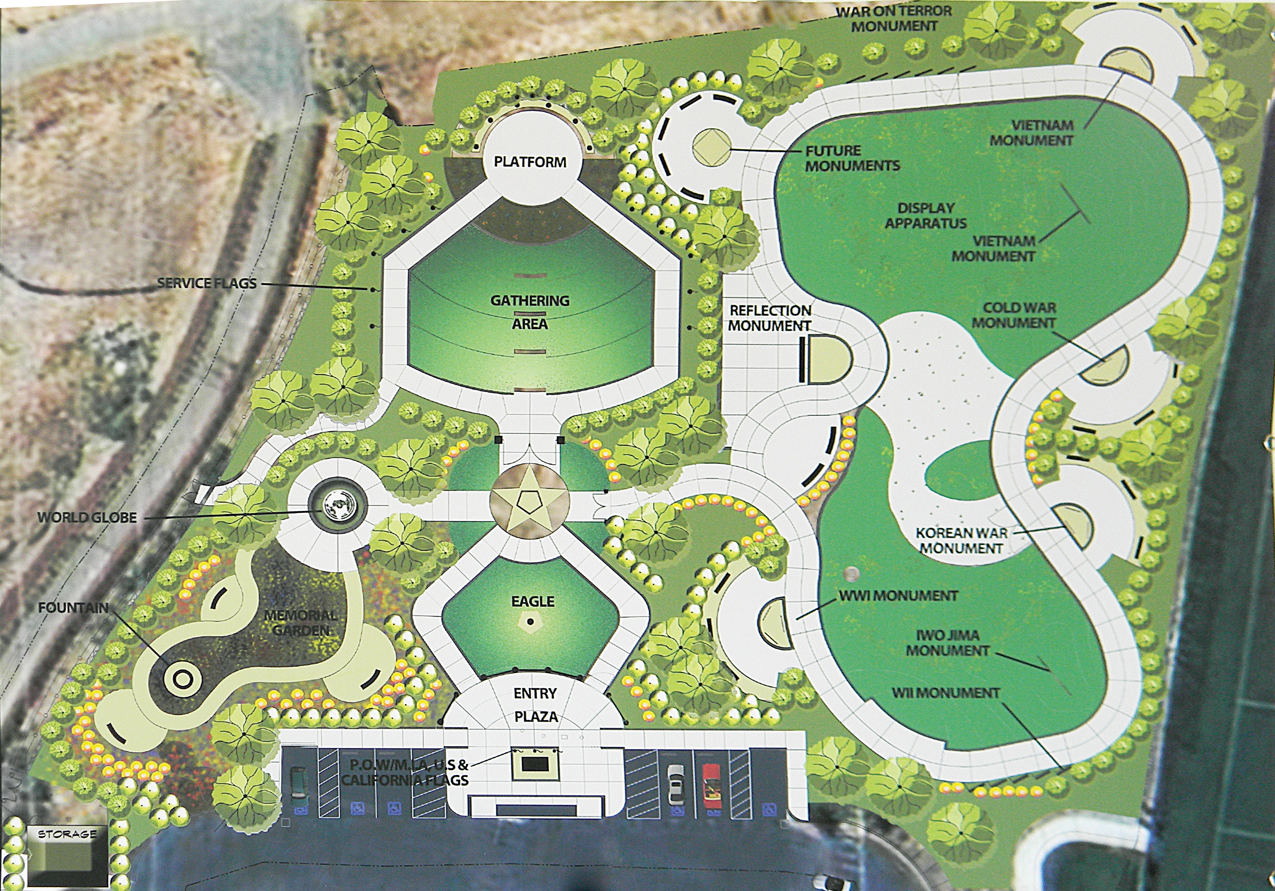 Veterans Memorial Park Plans Call For A Memorial Garden, Courtyard And A  100 Year Journey Through American Conflicts. Courtesy Graphic